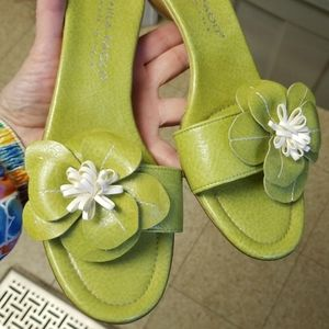 """Mila PAOLI Italy Summer sandals 1"""" shoes size 7"""